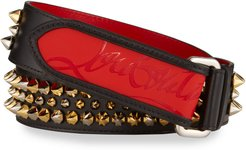 Loubi Spiked Leather Belt