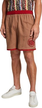 Rugby Shorts with Beaded Logo