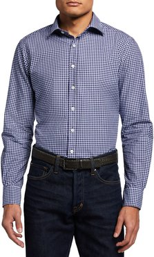 Marone Tattersall Check Sport Shirt