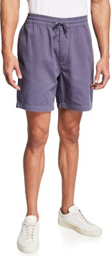 Aiden Solid Cotton Drawstring Shorts