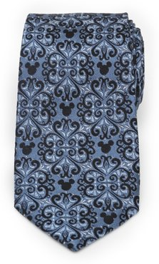 Mickey Mouse Damask Tile Silk Tie