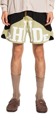 Typographic Colorblock Yachting Shorts