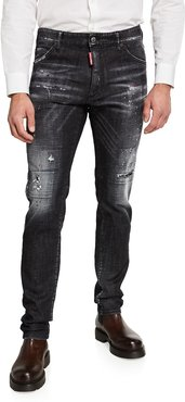 Cool Guy Faded Distressed Jeans