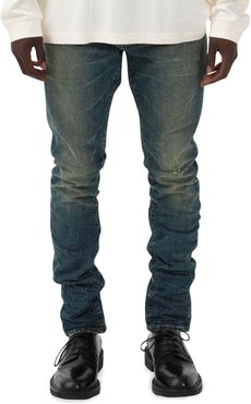 Distressed Slim-Fit Dirty Jeans