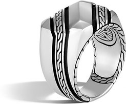 Classic Chain Signet Ring, Size 9-11