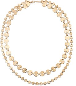 14k Gold Double-Strand Rodeo Necklace