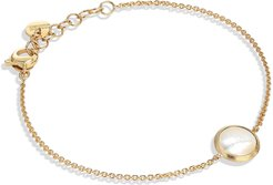 18K Yellow Gold and White Mother-of-Pearl Bracelet
