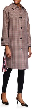 Cappotto Plaid Coat w/ Pleats