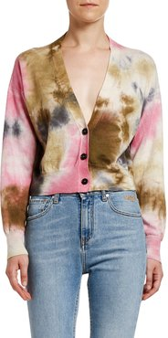 Maglia Tie Dyed Button-Front Cardigan