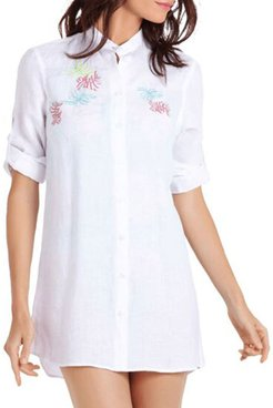 Franche Embroidered Linen Coverup