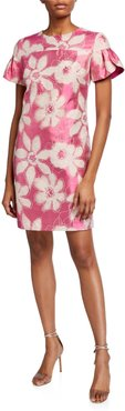 Jacinta Floral Jacquard Dress