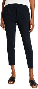 French-Terry Pleated Jogger Pants