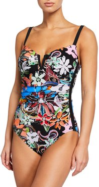 Orchid Printed One-Piece Swimsuit