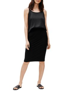 Plus Size High-Waisted Washable Pencil Skirt
