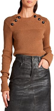 Koyle Crewneck Sweater with Buttons