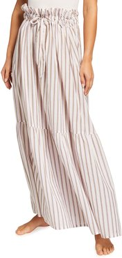 Alice Striped Tiered Maxi Skirt