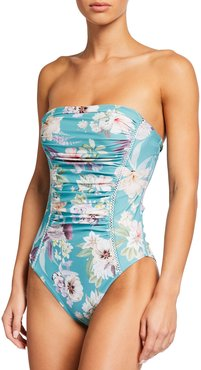 Mia Floral Bandeau One-Piece Swimsuit