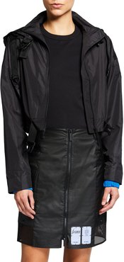 Zip-Front Shell Track Jacket