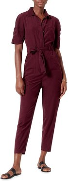 Neal Belted Crop Jumpsuit
