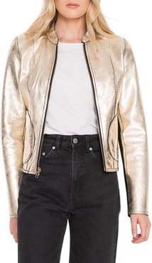Chapin Reversible Leather Bomber Jacket