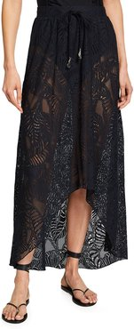 Newport Palm Lace Coverup Skirt