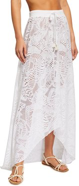 Newport Embroidered Lace Coverup Skirt