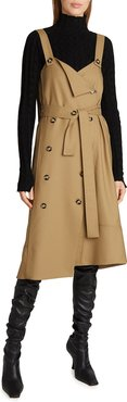 Stretch Suiting Trench Dress