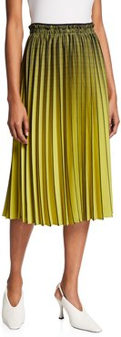 Pleated Ombre Plaid Skirt