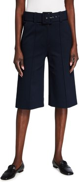 Belted Ponte Jersey Culottes