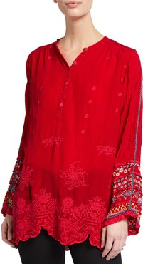 Plus Size Paige Embroidered Tunic