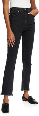 Carly Raw-Hem Straight-Leg Jeans - Extended Sizing