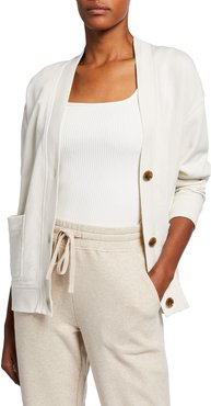 Oversized Button-Front Cardigan