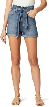 The Brinkley Belted Shorts with Rolled Cuffs