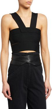 Banded Jersey Halter Top