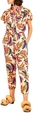 Banana Bunch Frilled-Sleeve Multicolor Jumpsuit