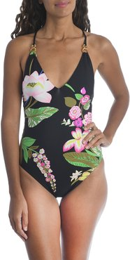 Moonlit Floral One-Piece Swimsuit