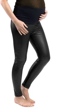 Maternity Liquid Double Layer Over-Belly Leggings