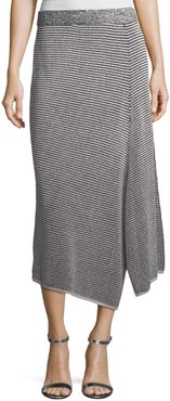 Plus Size Frosted Fall Asymmetric Skirt
