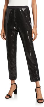 Sequin Ankle Pants