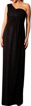 Maternity Galaxy One-Shoulder Column Gown