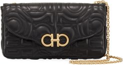 Gancio Quilted Leather Wallet on Chain