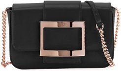 Tres Vivier Micro Leather Clutch Bag with Shoulder Strap