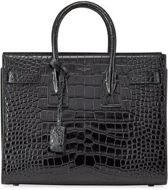 Sac de Jour Small Shiny Croco Effect Satchel Bag