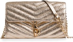Edie Metallic Leather Wallet On A Chain