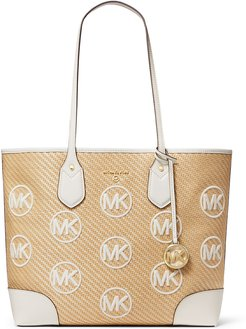 Eva Large MK Straw Tote Bag