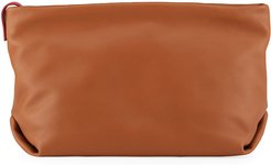 Inside-Out Soft Napa Leather Clutch
