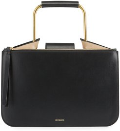 Tess Small Leather Pump Top-Handle Bag