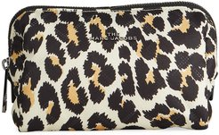 The Beauty Triangle Leopard-Print Cosmetic Bag