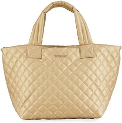 Metro Deluxe Small Metallic Quilted Tote Bag