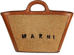 Tropicalia Straw & Leather Summer Tote Bag